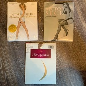 Variety of hosiery Victoria's Secret and Hanes